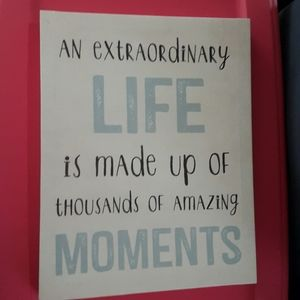 Extraordinary life wall art